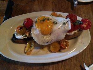 hearth toast with duck egg